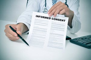 Doctor seeking informed consent